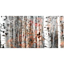 Tree Ski Graphic Art on Premium Wrapped Canvas