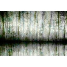 Wispy Trees Reflect Graphic Art on Premium Wrapped Canvas