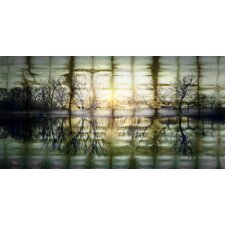 Reflections at Sunset Graphic Art on Premium Wrapped Canvas