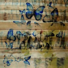 Blued Winged Beauties Painting Print