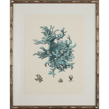Turquoise Coral III Framed Graphic Art