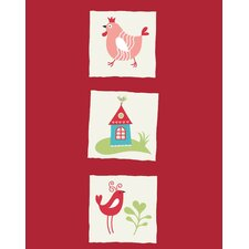 Rooster Bird and Home Paper Print