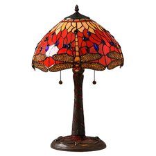 Dragonfly Elegant Table Lamp with Bowl Shade