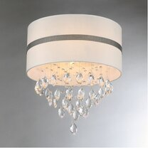 Paul 4 Light Crystal Drum Chandelier