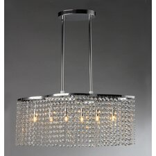 Tee 6 Light Crystal Chandelier