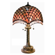 """Beaded 26"""" H Table Lamp with Bowl Shade"""
