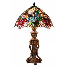 "Flower Design 23"" H Table Lamp with Bowl Shade"