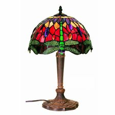 "Dragonfly 19"" H Table Lamp with Bowl Shade"
