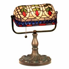 "Banker Eyes 13"" H Table Lamp with Rectangular Shade"