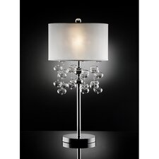 "Shireen 1 Light Crystal 32"" H Table Lamp with Drum Shade"