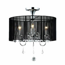 Clara 3 Light Crystal Chandelier