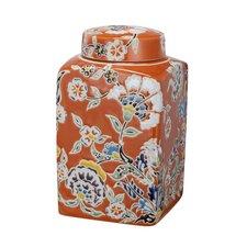 Ceramic Square Lidded Jar