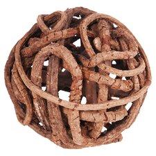 Wood Orb Decor (Set of 4)