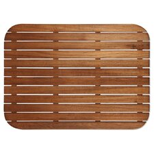 Teak Shower Mat with Rounded Corners