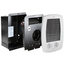 Com-Pak Series 1,000 Watt Wall Insert Electric Fan Heater