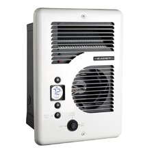 Com-Pak Series 1600 Watt Wall Insert Electric Fan Heater