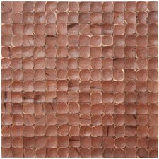 Coconut MosaicTile in Brown Luster