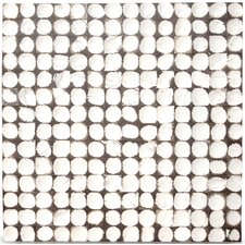 Coconut Mosaic Tile in White Patina