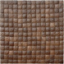 Coconut Mosaic Tile in Espresso Grain