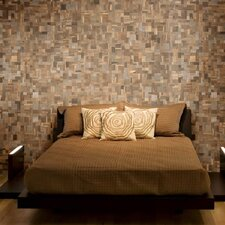 Wood Mosaic Tile in Multi-Color