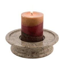 3 Tier Fossil Stone Candle Dish