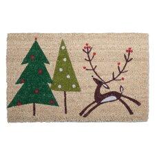 Woodland Prancing Reindeer Doormat