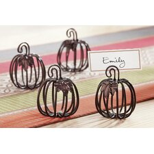 Wire Pumpkin Place Card Holder (Set of 4)