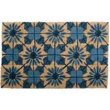 Shibori Coir Geometric Doormat