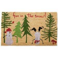 Fun in the Snow Doormat