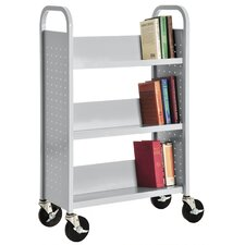 Sloped Shelf Book Cart