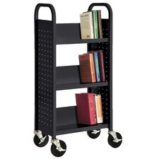 Sloped-Shelf Book Cart