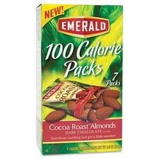 Emerald 100 Calorie Pack Dark Chocolate Cocoa Roast Almonds, 7 Packs/Box (Set of 2)