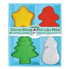 Holiday Mini Cake Molds