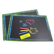Placemat Wall Mounted Chalkboard, 1' x 1' (Set of 2)