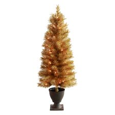 4' Slim Christmas Tree with 50 Lights and Urn