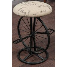 "21"" Bike Wheel Bar Stool with Padded Seat"