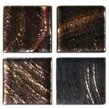 """Metalz 1"""" x 1"""" Glass Mosaic Tile in Bronze"""