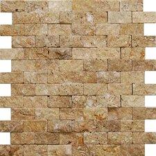 Noce 2'' x 4'' Travertine Splitface Tile in Brown