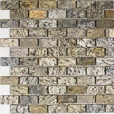 """1"""" x 2"""" Slate Mosaic Tile in Gold Green"""