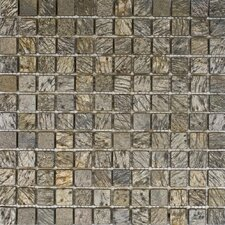 """1"""" x 1"""" Slate Mosaic Tile in Gold Green"""