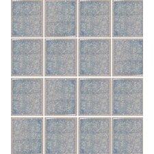 "Oceanz 3"" x 3"" Glass Mosaic Tile in Blue"