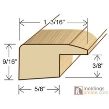"""0.27"""" x 1.5"""" x 78"""" Red Walnut Reducer in Natural"""