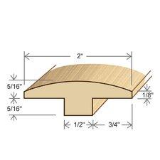 "0.63"" x 2"" x 72"" Bamboo T-Molding"