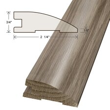 """0.75"""" x 2.25"""" x 78"""" Solid White Oak Reducer"""