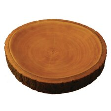 "Mango Wood 2"" Plate with Bark"