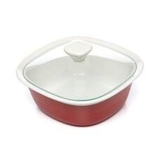 Etch Square 1.5 Qt. Dish with Glass Cover