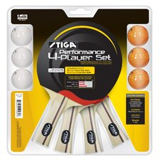 Performance 4 Player Table Tennis Racket Set