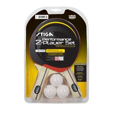 Performance 2-Player Table Tennis Racket Set