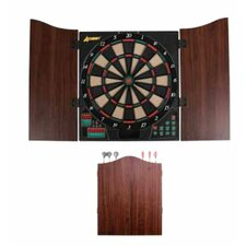 Charger Electronic Dartboard Cabinet Set