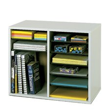 Wood Adjustable-Compartment Literature Organizer (Desktop)